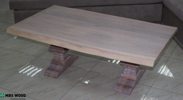 mesa de centro roble blanco