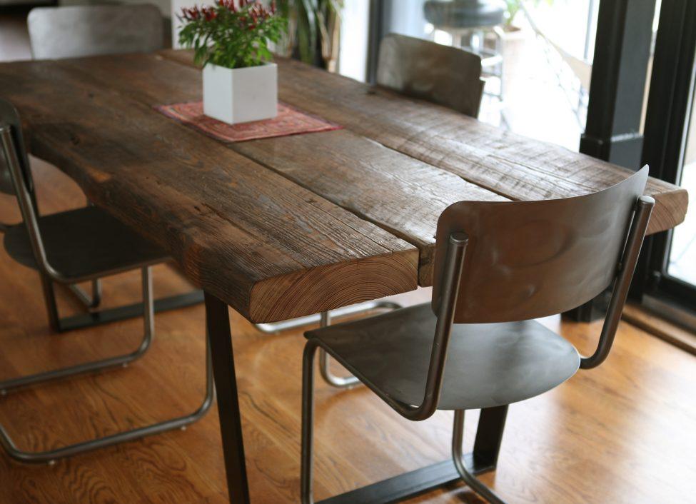 mesa de comedor de madera 3 tablas de madera