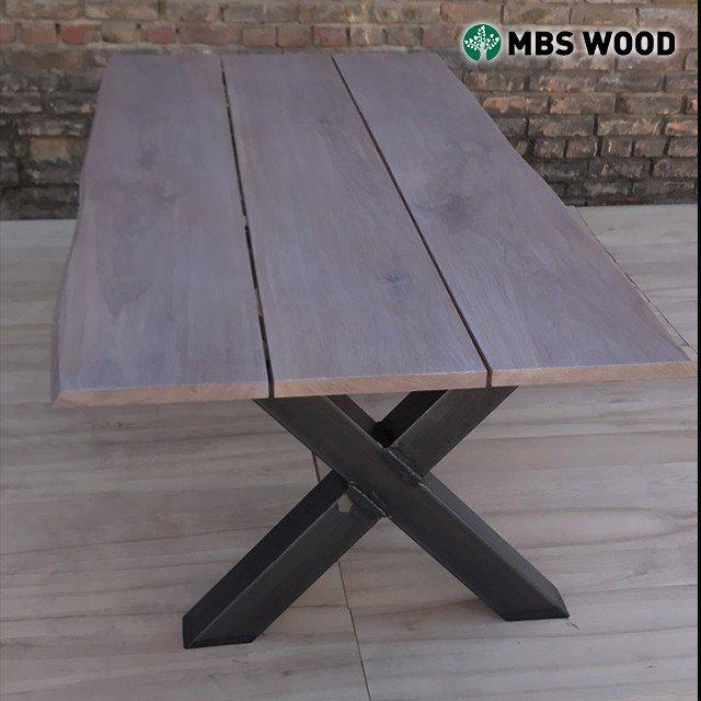 Mesa comedor roble 3 tablones