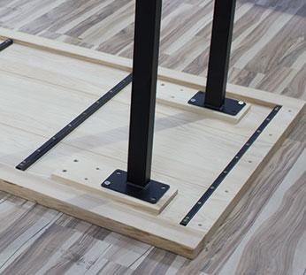 tablero de mesa de madera natural