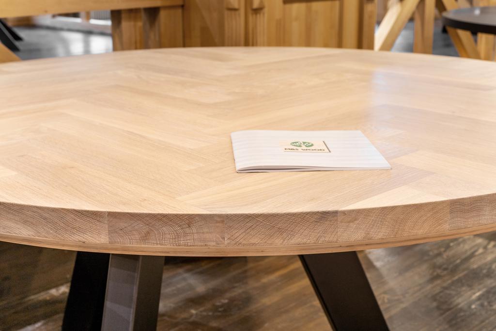 tableros redondos de madera dura