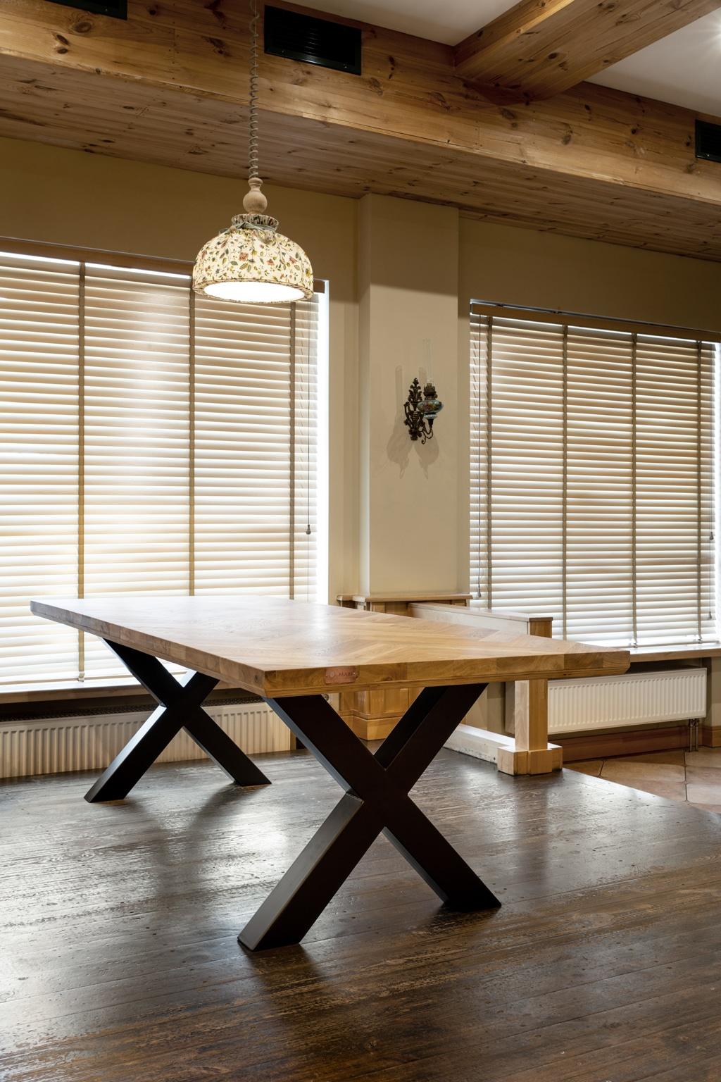 oak table mbswood.com 4 Tablero rústico